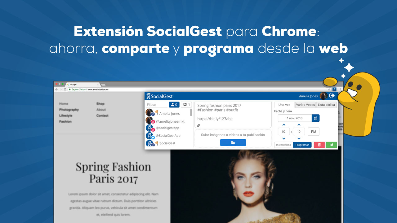 Extensión SocialGest para Chrome