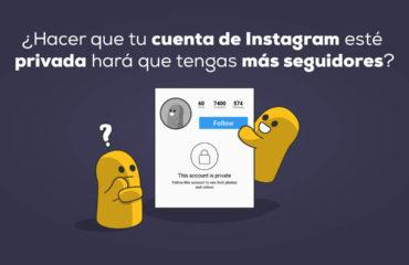 cuenta de Instagram esté privada