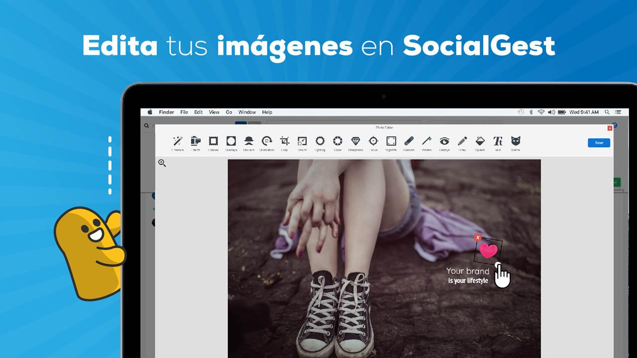 Edita tus imágenes en SocialGest