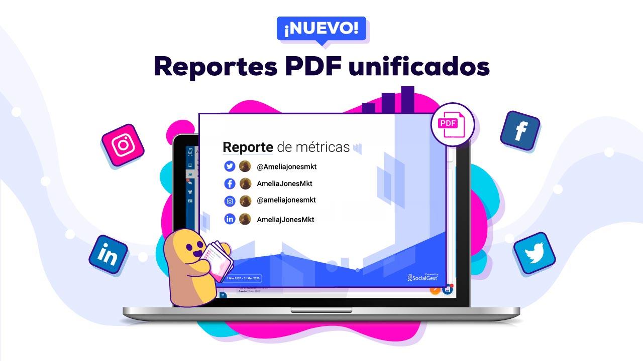 Reportes PDF unificados Feature SOCIALGEST blog