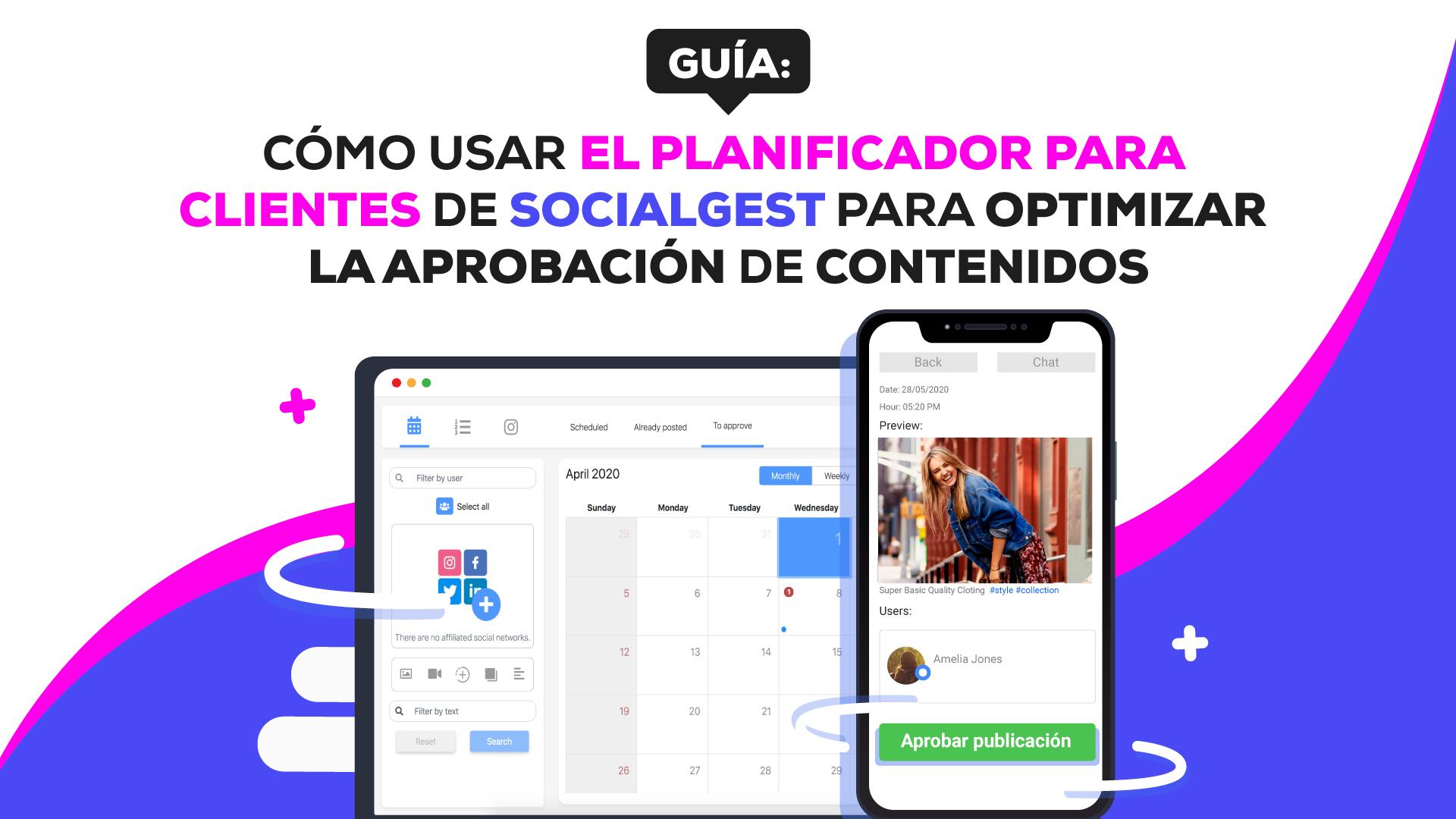 planificador de contenido para clientes de SocialGest