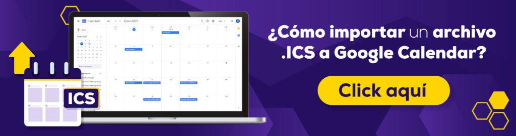 Cómo importar archivo ics a google calendar
