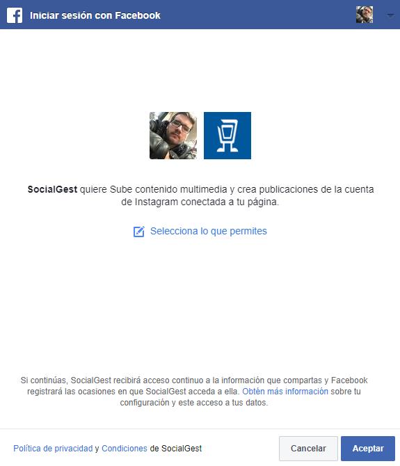 Programar instagram desde SocialGest