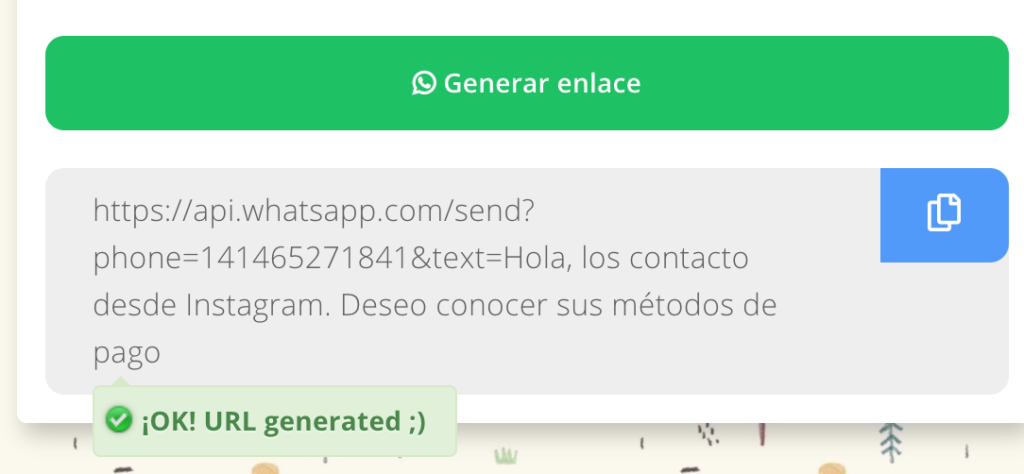 Generador de enlaces de WhatsApp