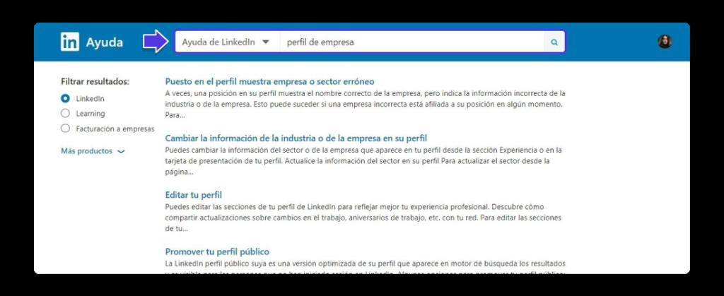 Centro de ayuda de LinkedIn