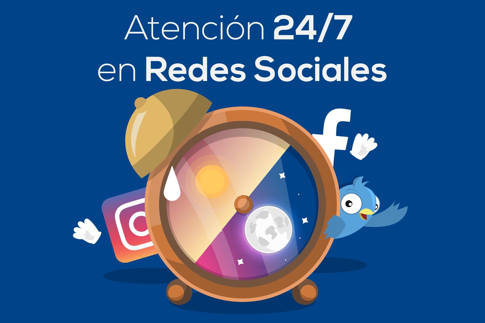 soporte24 7 en redes sociales