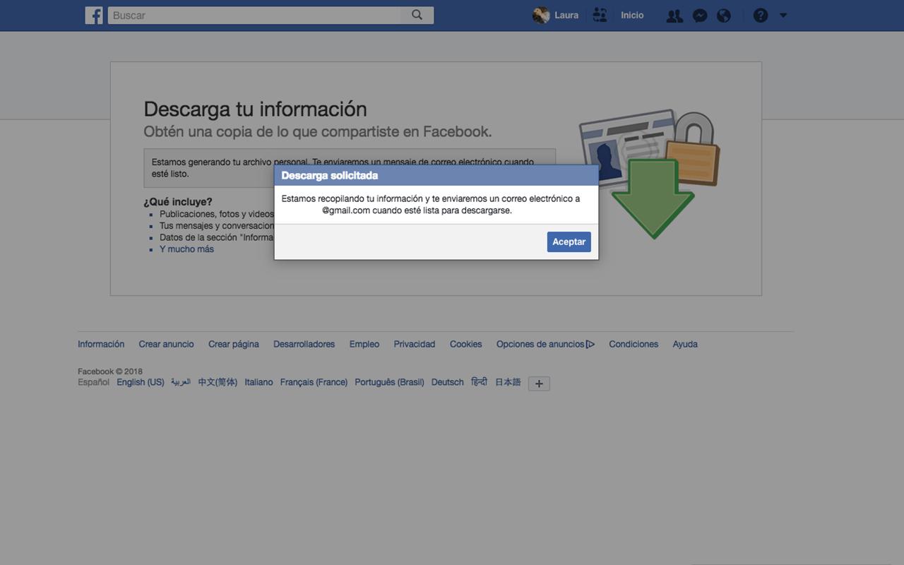 Borrar tu cuenta de Facebook para siempre