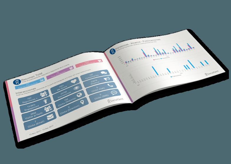 Informe de redes sociales en SocialGest