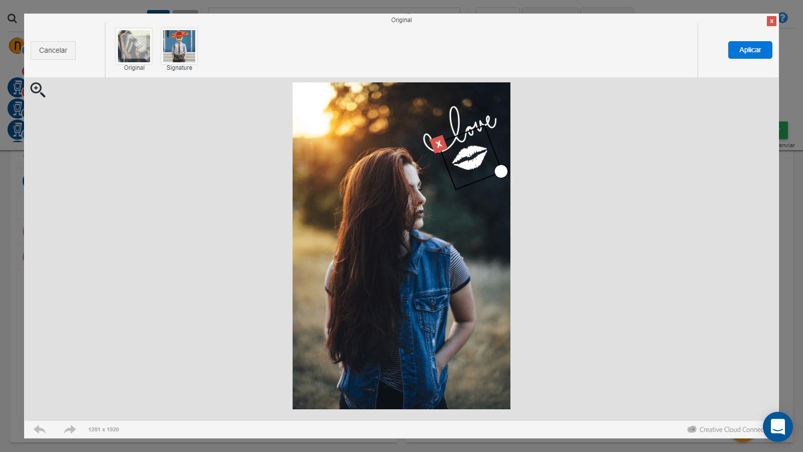 stickers en imagenes con socialgest