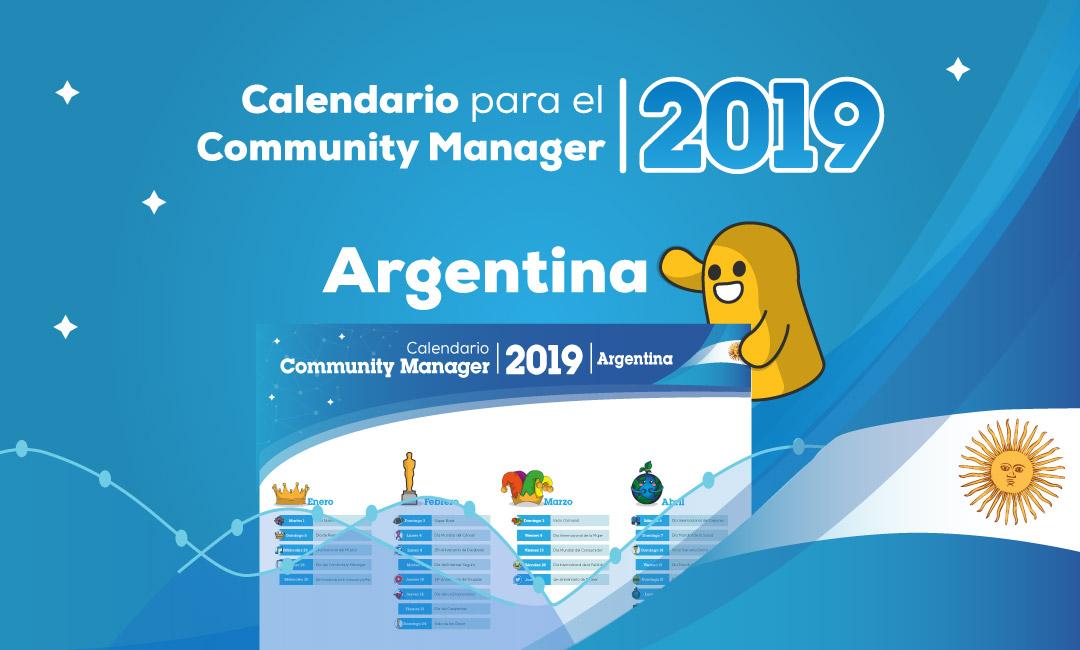 Calendario del Community Manager 2019 en PDF (Argentina)