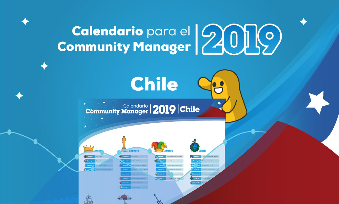 Calendario del Community Manager 2019 en PDF Chile