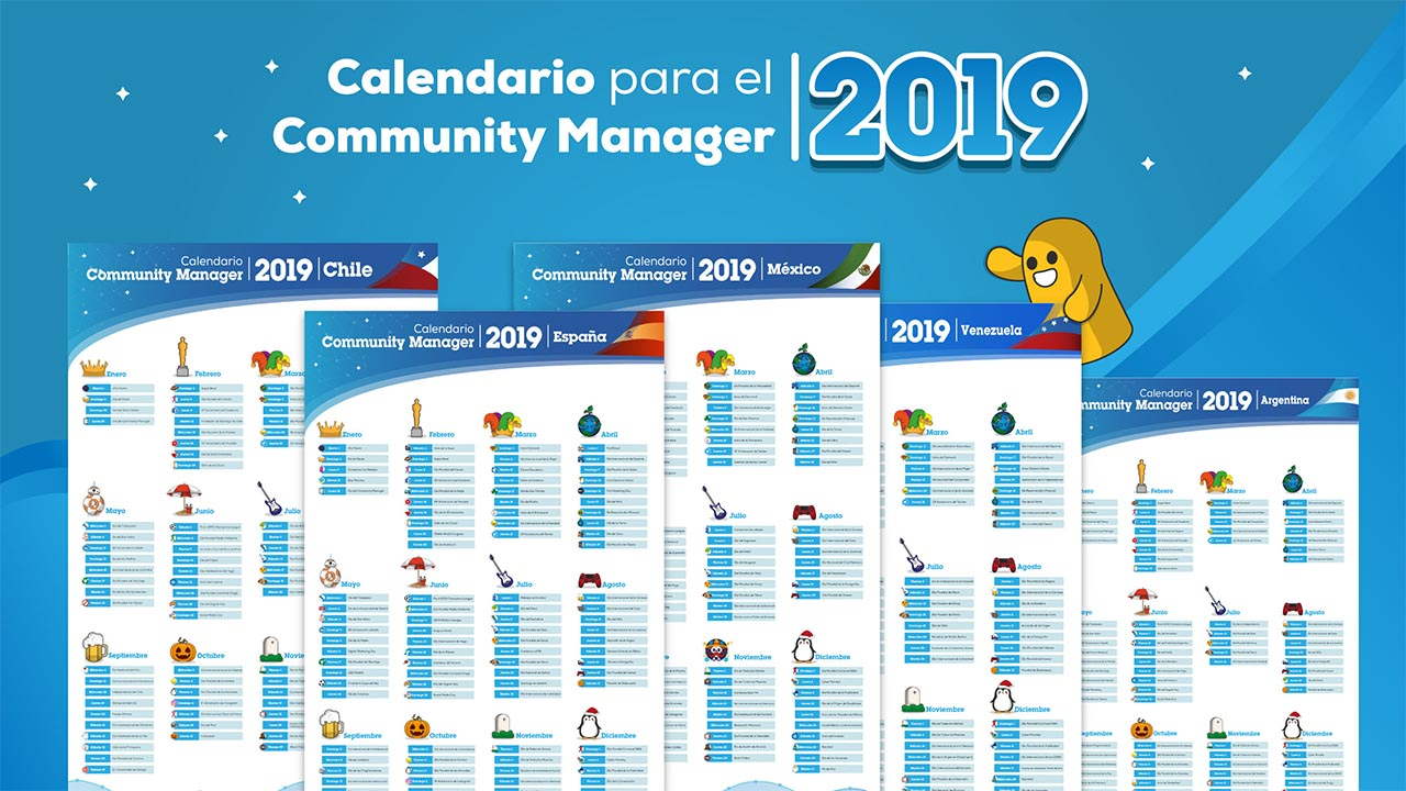 Calendario Julio 2019 Peru.Calendario De Community Managers 2019 Actualizado