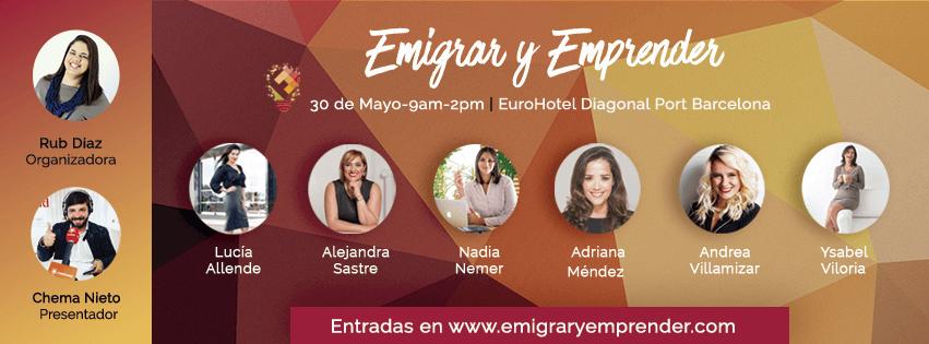 Emigrar y Emprender 2019 Eventos Barcelona España