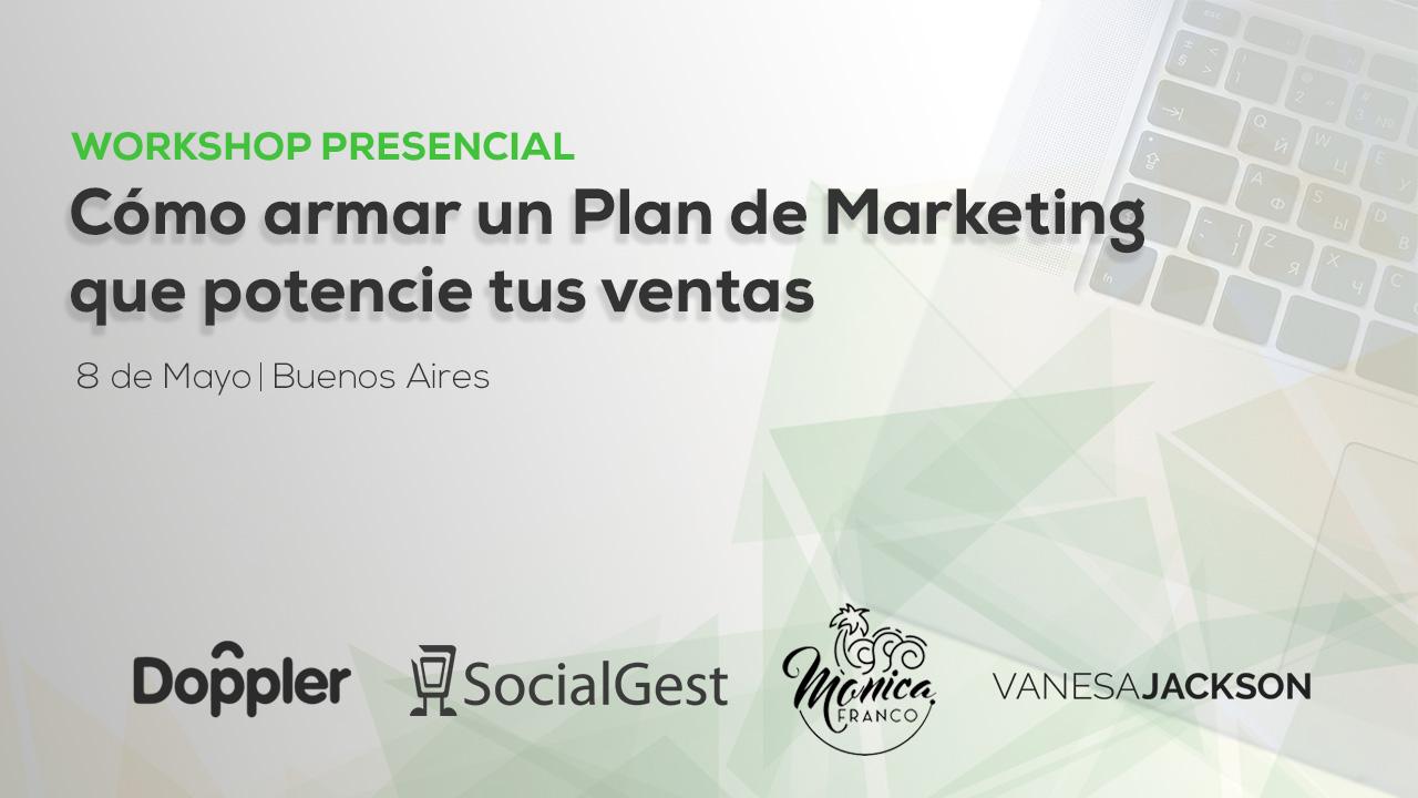 El workshop presencial Cómo armar un Plan de Marketing que potencie tus ventas llega a Buenos Aires