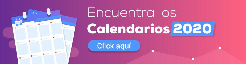Calendario Community Manager 2020