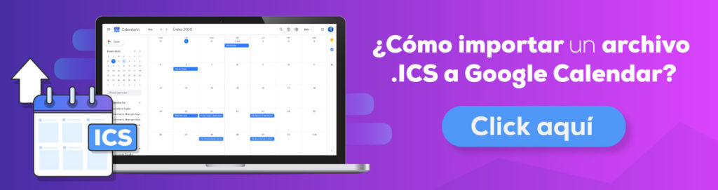 Importar eventos al Calendario de Google en .ICS